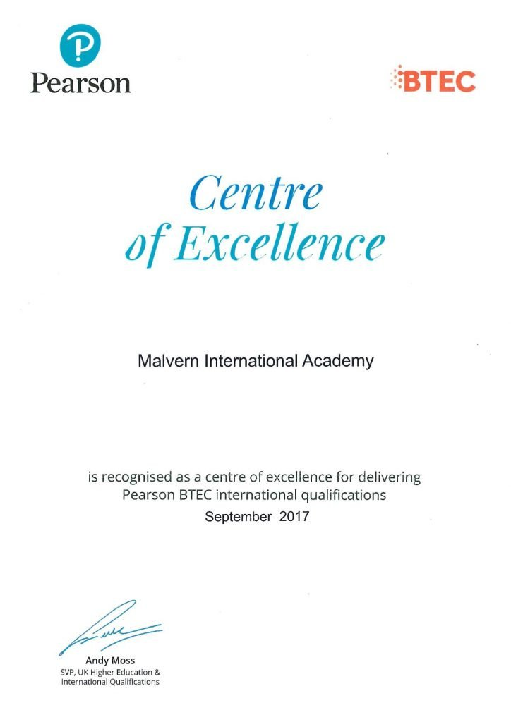Centre of Excellence, Pearson Sep 2017